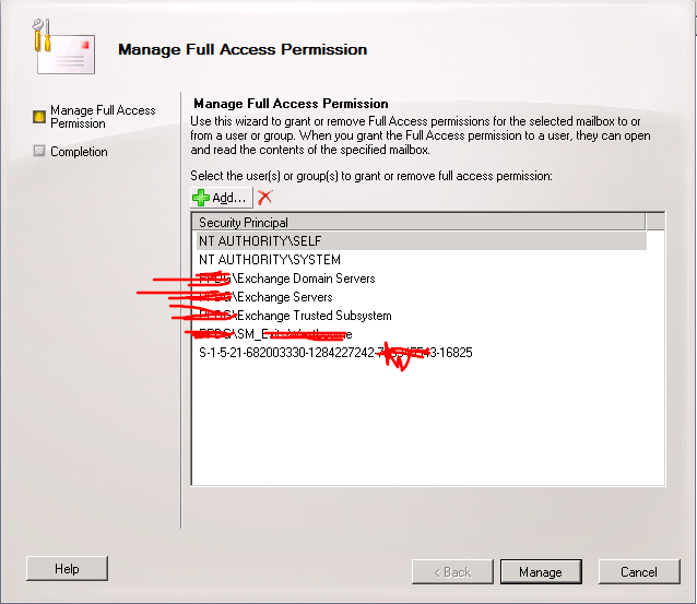 Exchange 2010 Cant remove user from sharedmailbox