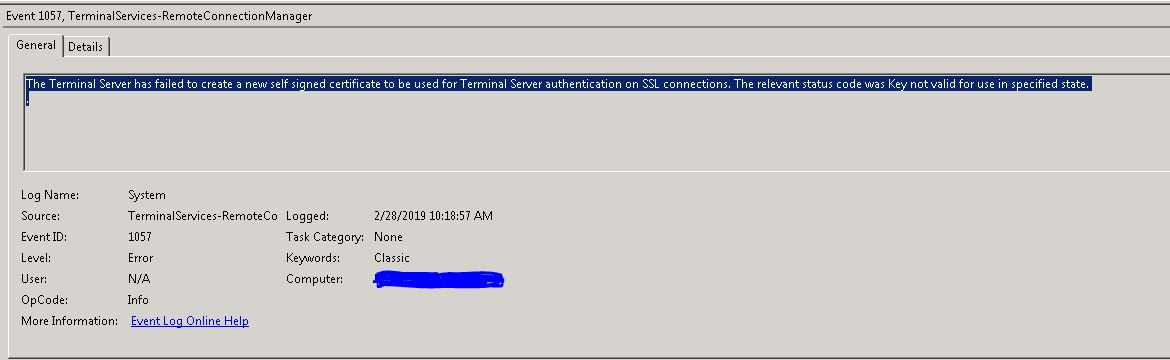 The connection can not proceed because authentication is not