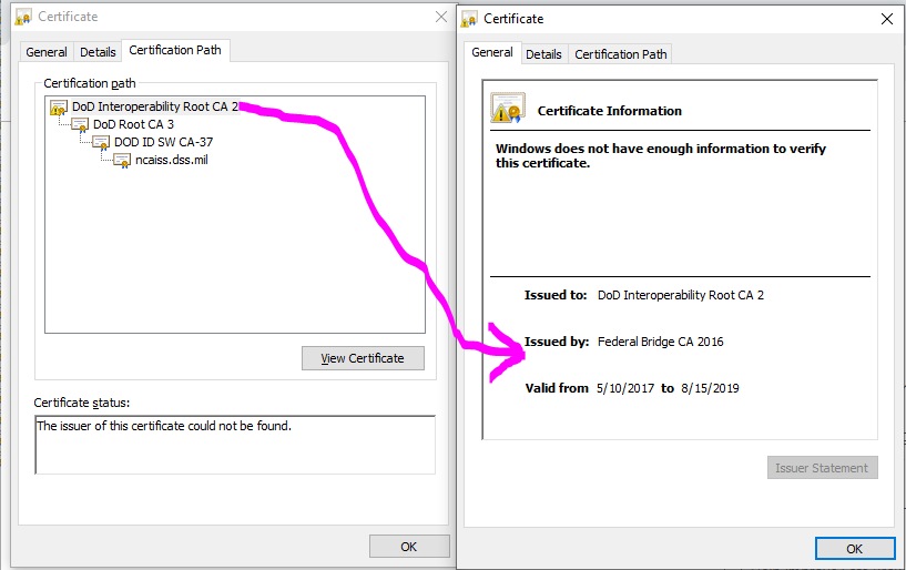 Unable to Install Root CA Certificate - Certificate cannot