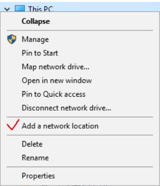 Add a network location