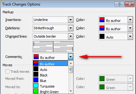 Any way to change box color and font size in comments@ word