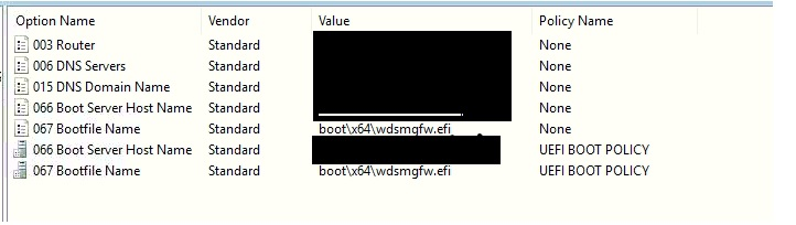 UEFI mode Windows 10 OS installation not working through WDS