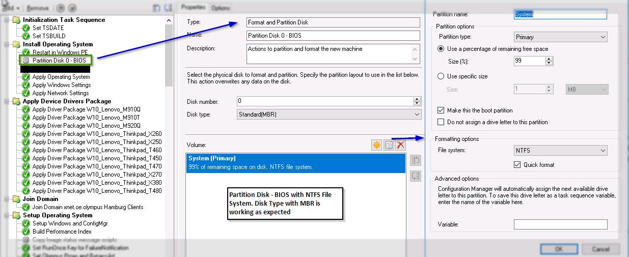 SCCM CB - Windows 10 Operating System Deployment - UEFI