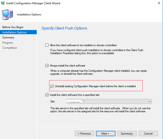 SCCM Clients are pointing to old Site code