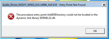Could not locate dynamic link library KERNEL32 dll