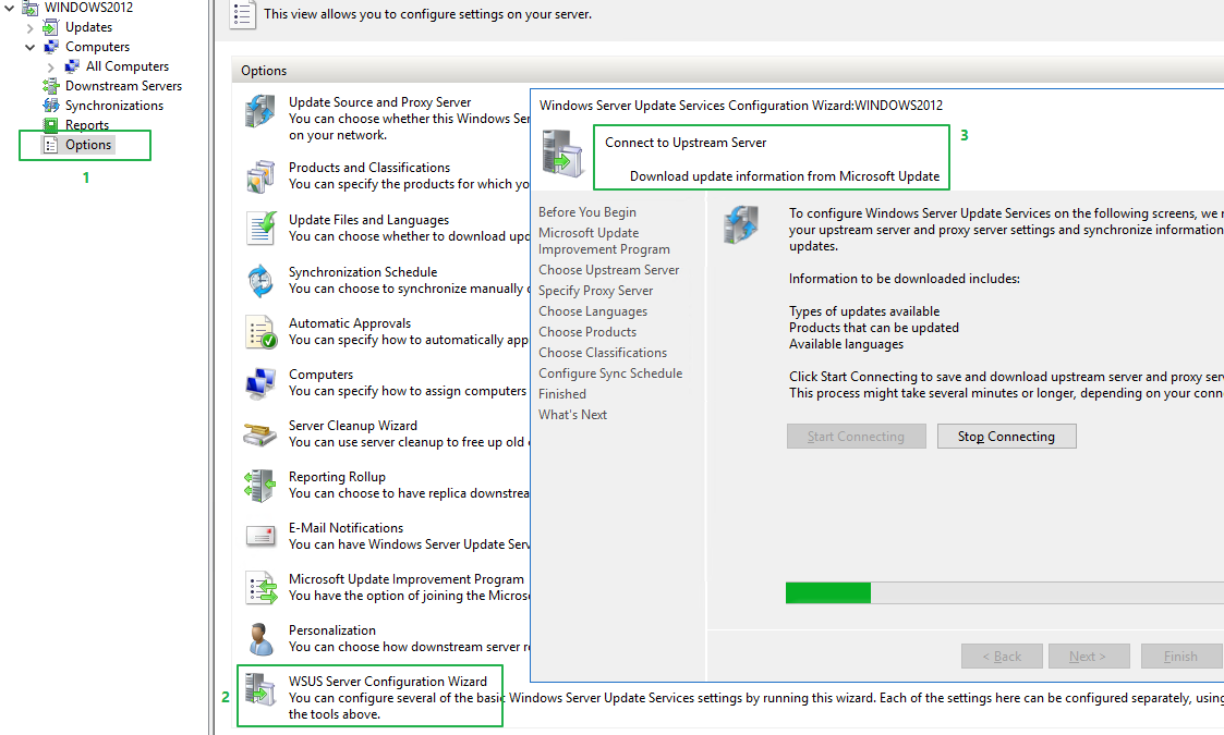 Windows Server 2019 connect to WSUS on Windows Server 2012 R2