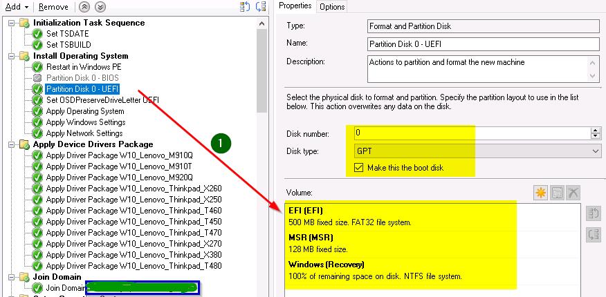 SCCM CB - Windows 10 Operating System Deployment (UEFI