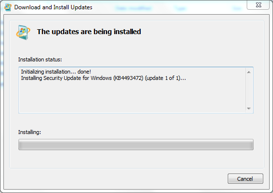 Windows6 1-KB3033929-x64 already installed