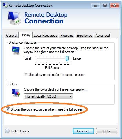 Black search window when I connect to my VM via RDP (Windows
