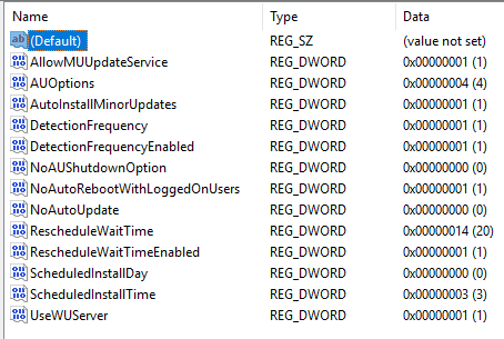 Windows 10 ignores WSUS GPO - No auto-restart with logged on