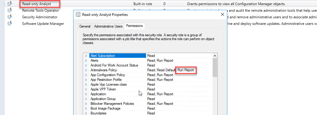 Permissions to run reports