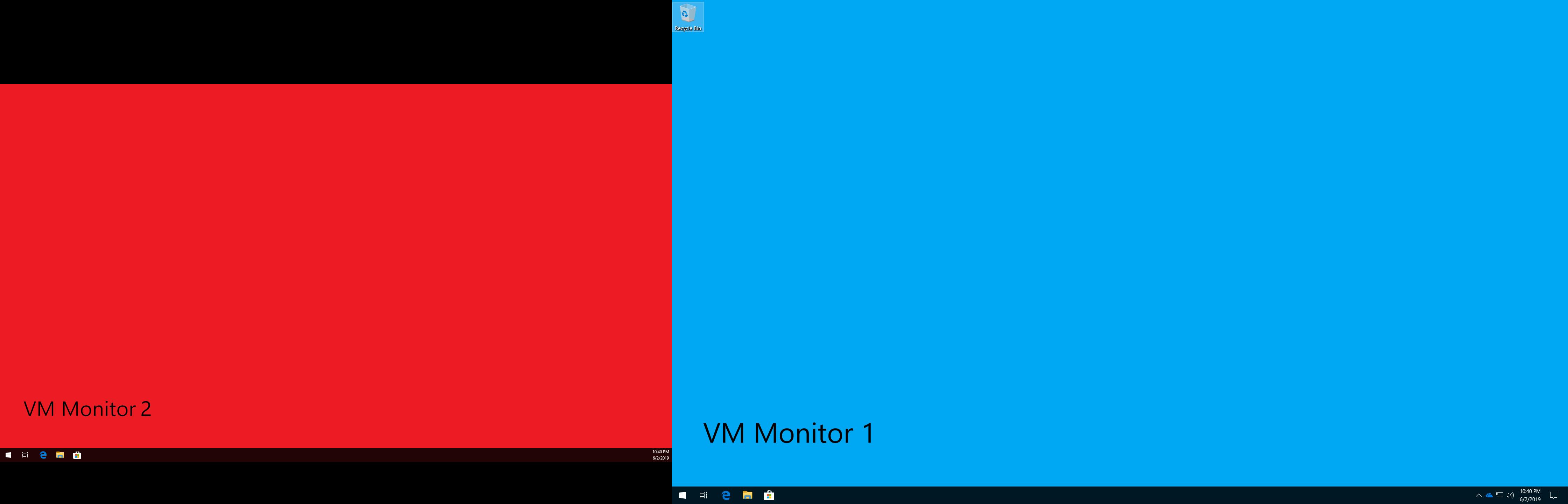 VM going full screen