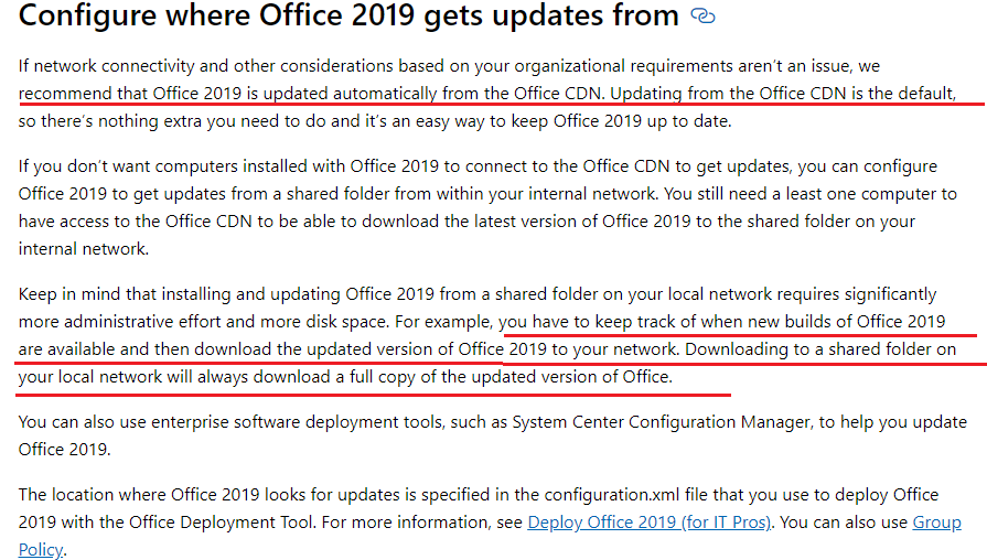 Error code: 30182-27 (3) while update office 2019 from local