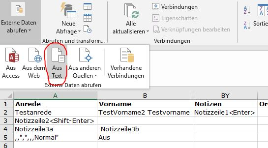 Falsches Abfrageergebnis in Excel bei Doppelklick auf CSV-Datei