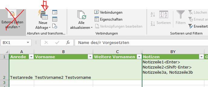 Korrekter CSV-Import mit Excel