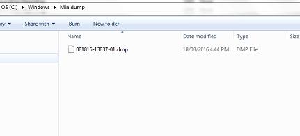 minidump folder