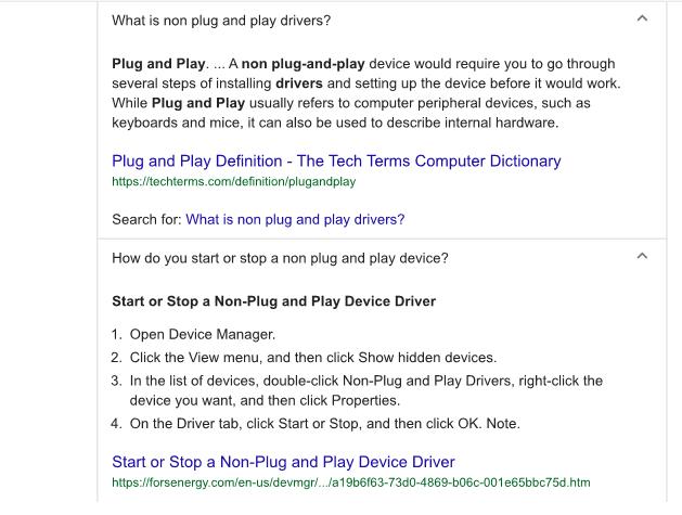 non-plug play drv