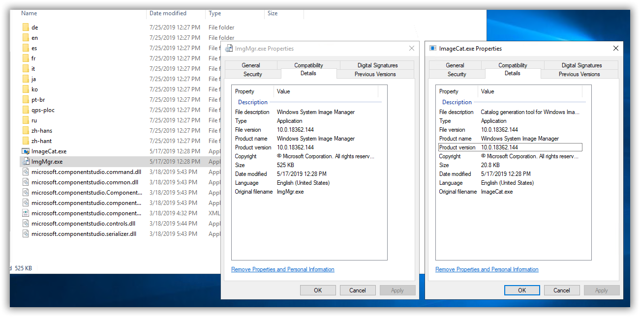 Windows 10 1903 SIM tool in ADK (10 1 18362 1) fails to