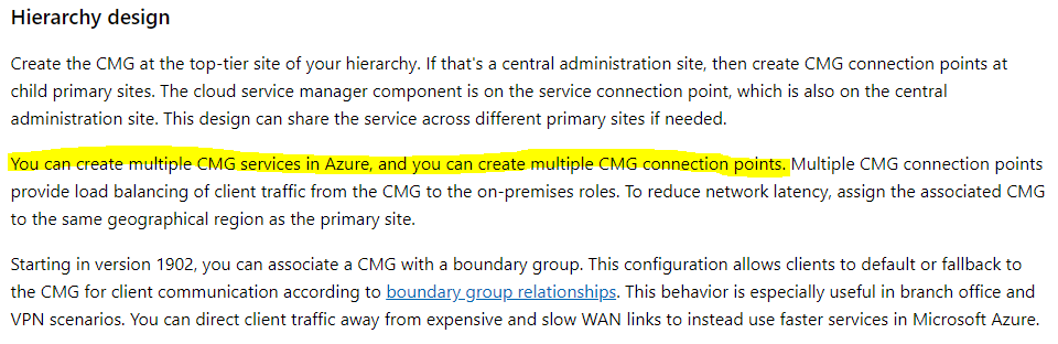 Cloud Mgmt Point and CMG Connection Point