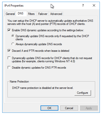 When do Server 2016 machines update their dynamic DNS