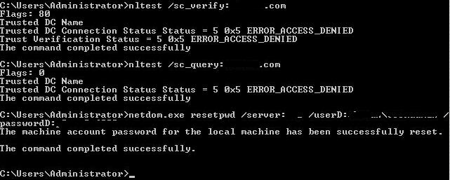 how to restore deleted computer account in Active directory
