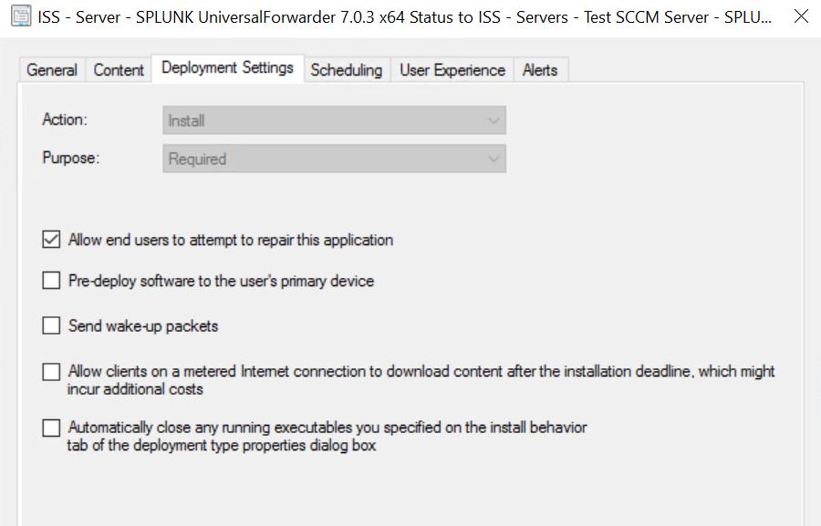 Deployment Splunk Universal Forwarder