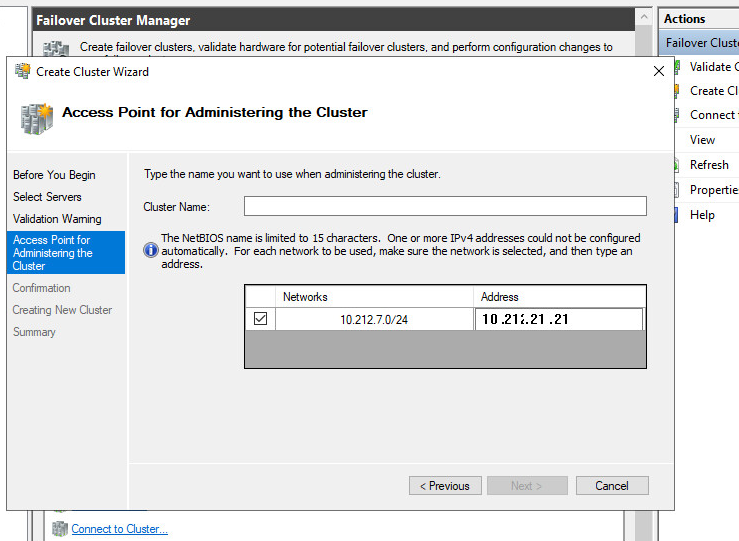 cluster services broken afte.NET 4.8 is installed - unable to put in a 3-digit IP