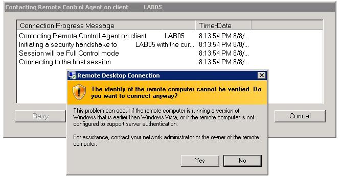 Remote Control Of Vista Desktop