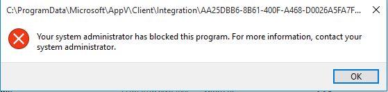App-V launch Error on blocking PS execution via AppLocker