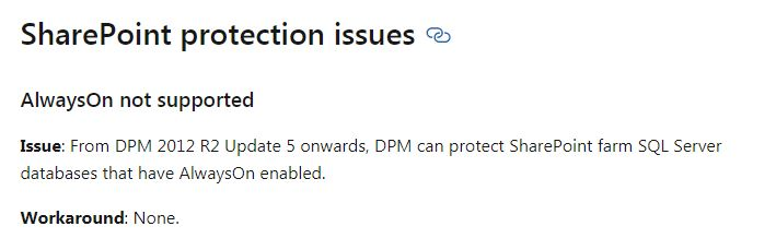 https://docs.microsoft.com/en-us/system-center/dpm/dpm-support-issues?view=sc-dpm-2019