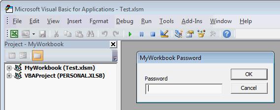 how to unlock excel vba project password