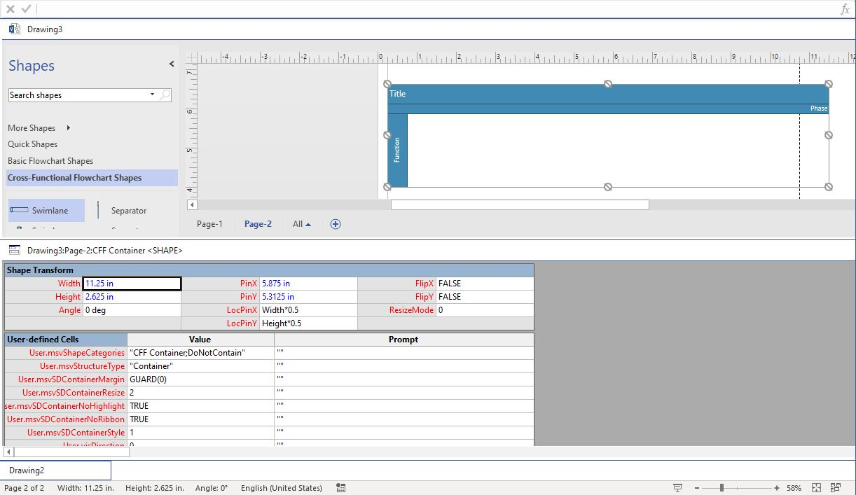 Cannot Modify Swimlane Size And Cannot Create Pool In Bpmn Chart In Visio2019