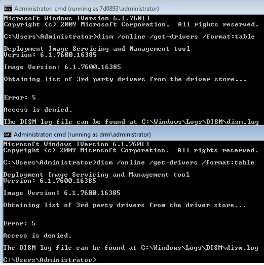 Access denied installing drivers as Admin