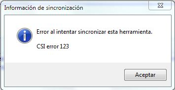 Error CSI 123