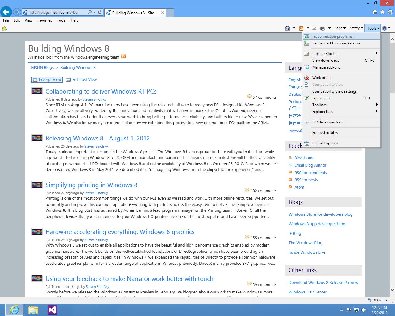 internet explorer 12 para windows 8