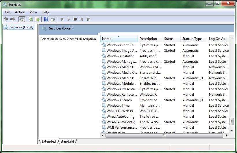 Windows update not in services.msc windows 7 reinstalling windows server 2008 sp2