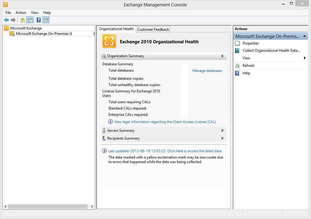 Exchange 2010 installing emc sp2 on windows 8 - Exchange management console ...