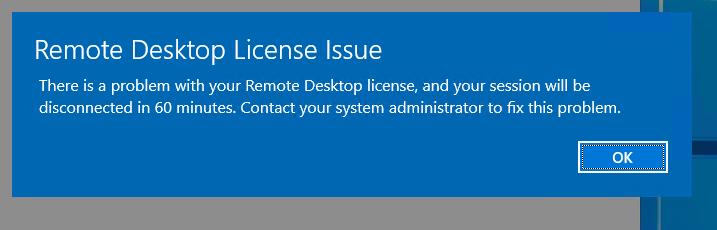 RDP License Issue