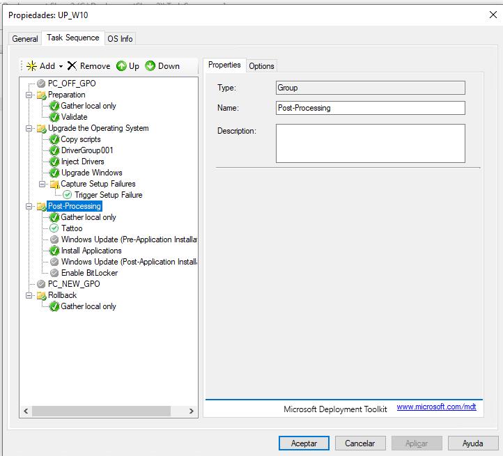 Configuración de mi TS que funciona OK en todos los equipos menos en los HP 800 G2 SFF