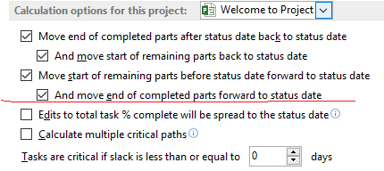 Calculation option for this Project