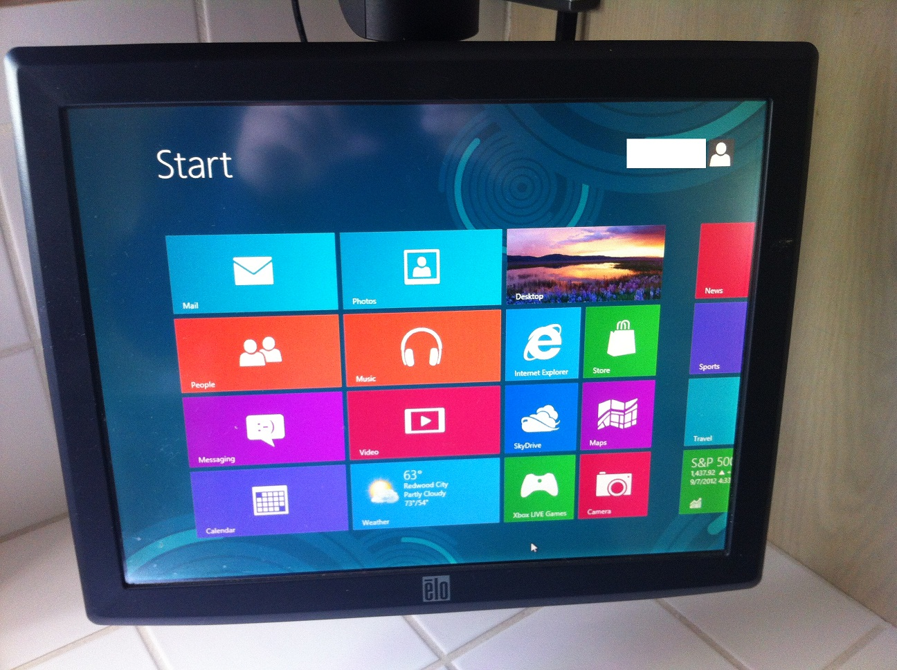 ELO Touch Screen and Windows 8 - Scroll Bar Height and Width