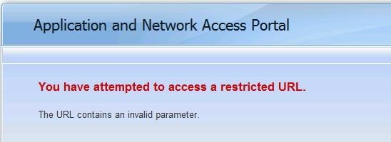 Invalid parameter