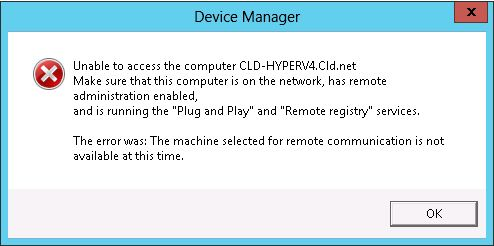 Access Device Manager in Hyper-V 2012