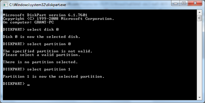 how do i find the drive letter by diskpart disk partition numbers in