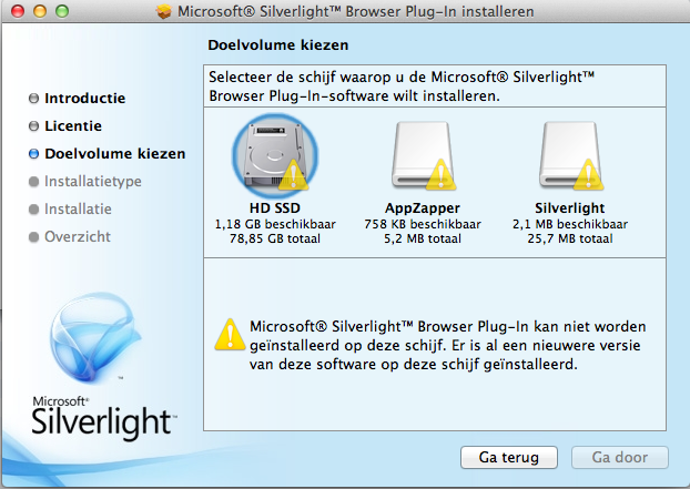 how to delete silverlight from mac