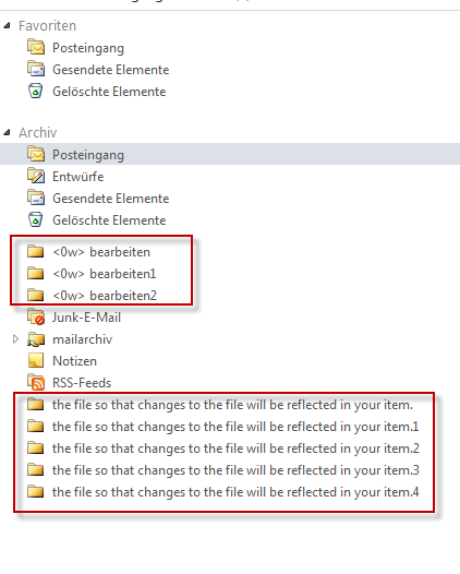 Exchange Phantom folders 0w the file so that changes to the file will be reflected in your items