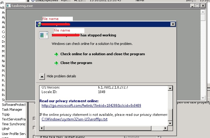 Task Scheduler doesn\u0027t run exe file