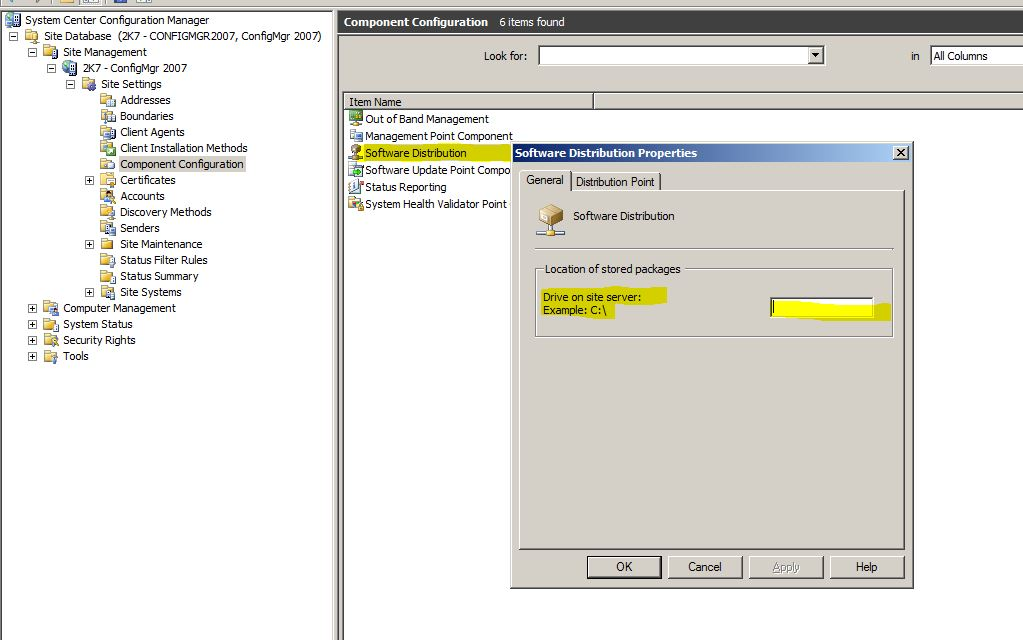 how to delete no_sms_on_drive.sms sccm 2012