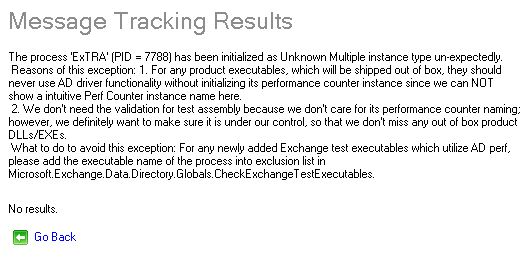The process ExTRA has been initialized as Unknown Multiple instance type un-expectedly.