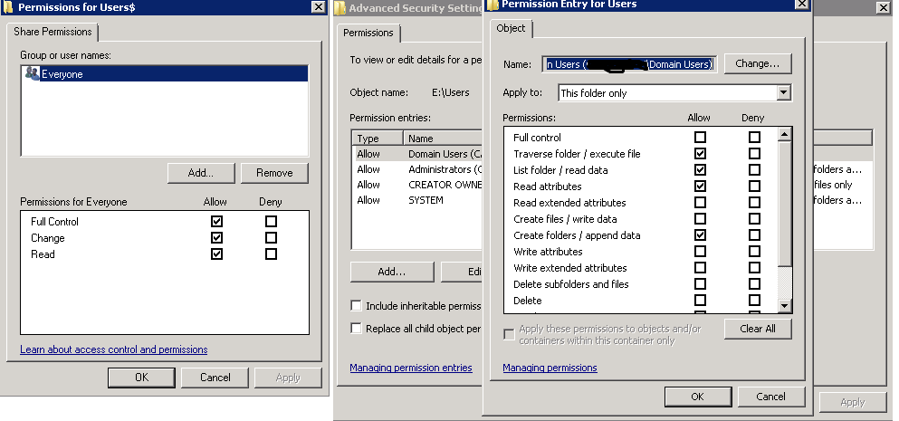 Folder redirection policy not working on windows and for My documents redirection not working